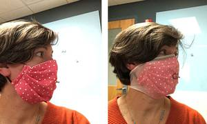 Adding a Nylon Stocking Really ImprovesFiltering Efficiency of Homemade Cloth Masks