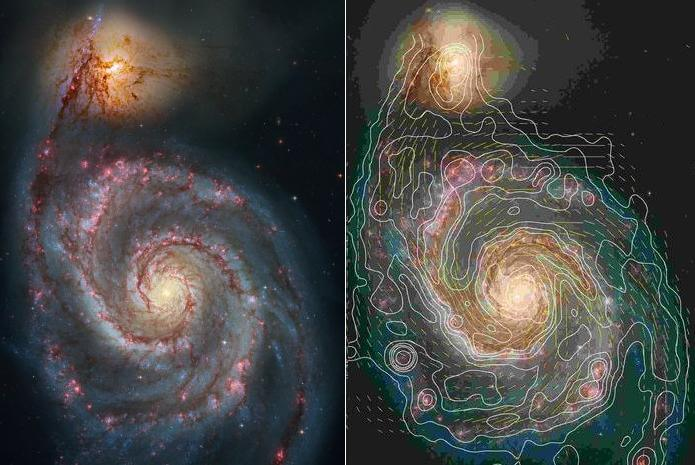 M51 magnetic lines of force.