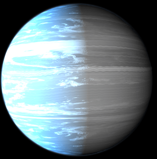 Artistic image for WASP-76b planet