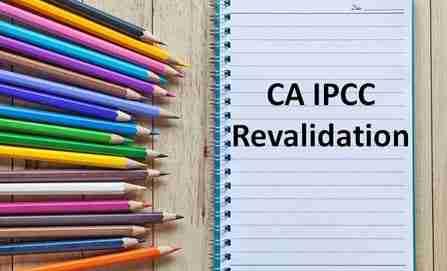 CA IPCC revalidation