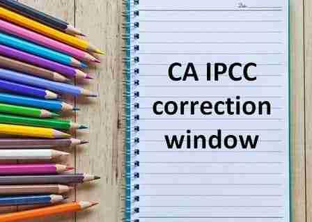 CA IPCC correction window