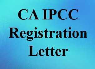 CA IPCC Registration Letter