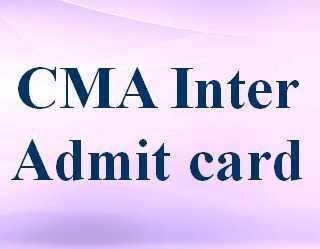 CMA Inter Admit card