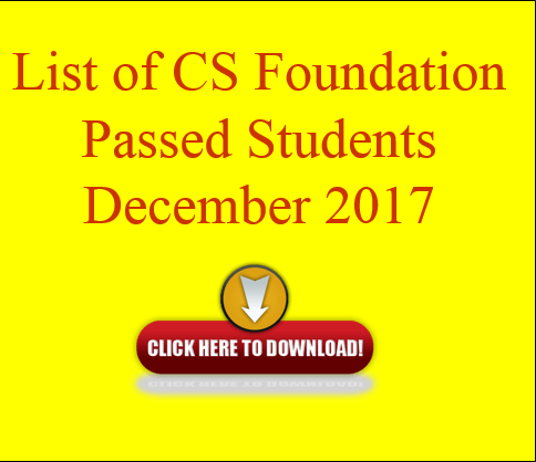 list of CS Foundation passed students