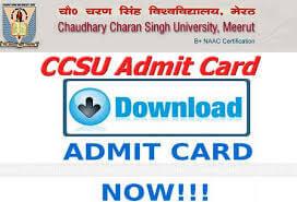 CCSU Mcom admit card