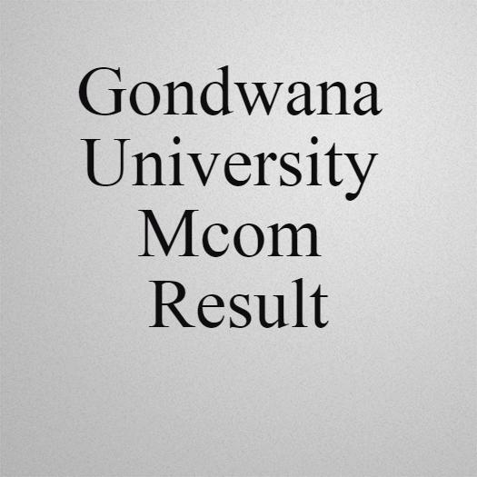 Gondwana university Mcom Result