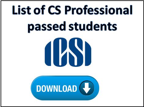 List of CS Professional passed students