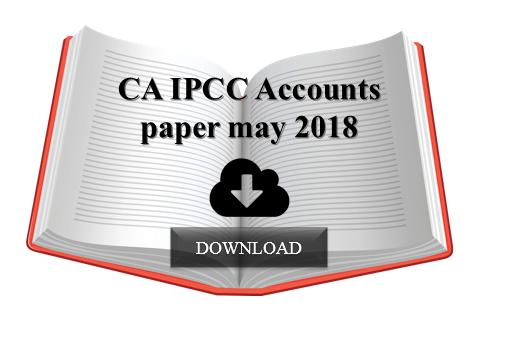 CA IPCC Accounts paper