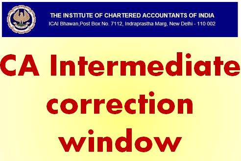 CA Intermediate correction window