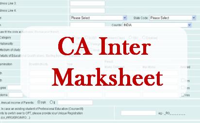 CA Inter Mark Sheet
