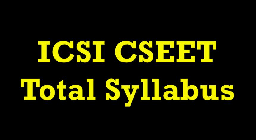 CSEET syllabus