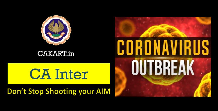 CA Inter Preparation during Coronavirus OutBreak