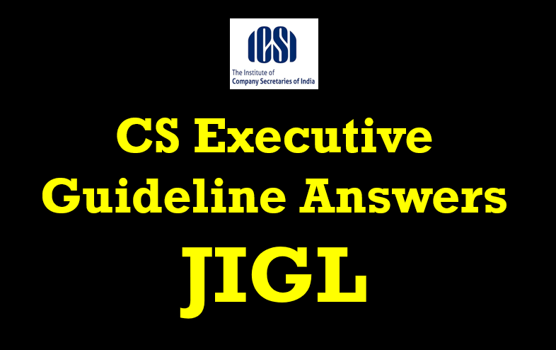CS Executive guideline answers