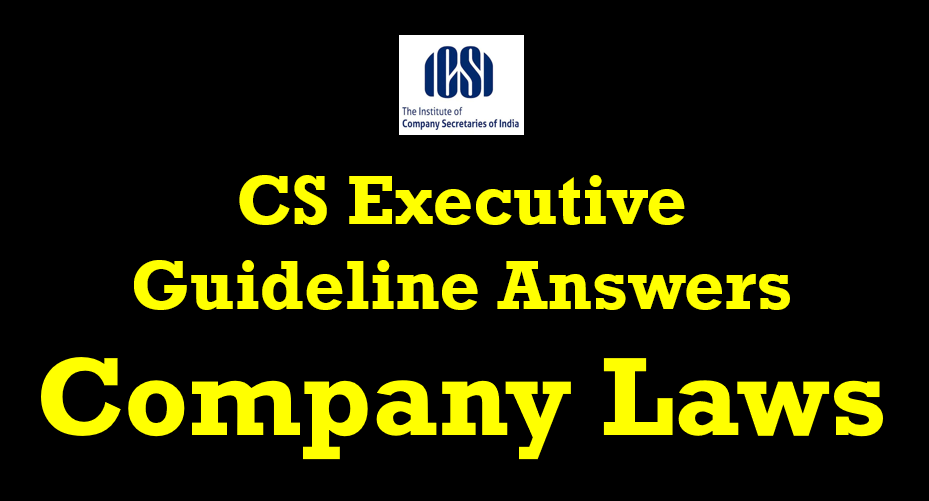 cs executive guideline answers company laws