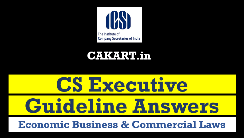 cs executive guideline answers for Economic Business & Commercial Laws