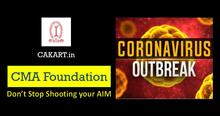 CMA Foundation Preparation during Coronavirus OutBreak