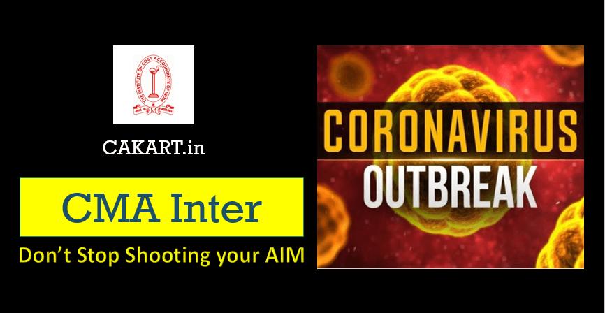 CMA Inter Preparation during Coronavirus OutBreak