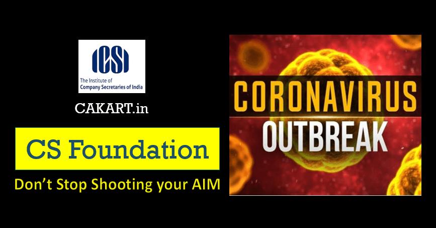 CS Foundation Preparation during Coronavirus OutBreak