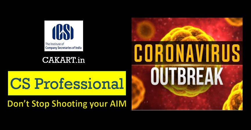 CS Professional Preparation during Coronavirus OutBreak