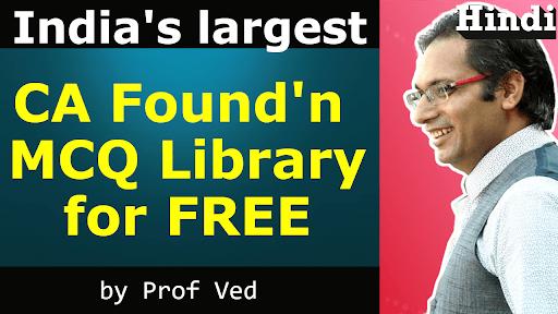 ca foundation mcq library