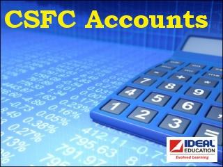 CS Foundation   Financial Accounts