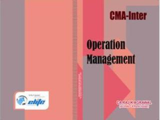 CMA Intermediate Group 2   Paper 9   Operation Management