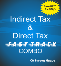 CA Final DT+ IDT Fast Track Combo by Farooq Haque