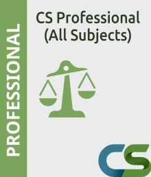 CS Professional Coaching Course of All Subjects