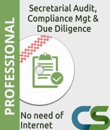 CS Professional Secretarial Audit Compliance Management and Due Diligence