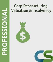 CS Professional Corporate Restructuring  Valuation and Insolvency