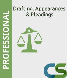 CS Professional  Drafting  Appearances and Pleadings