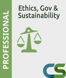 CS Professional Ethics  Governance and Sustainability