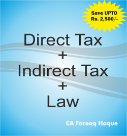 CA Final Combo Pack DT+IDT+Law  Farooq haque