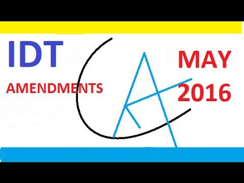 CA Final IDT Amendments Lecture 2016 by CA Yashavant Mangal