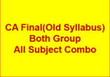 CA FINAL(Old Syllabus) FULL COMBO - P1+P2+P3+P4+  P..
