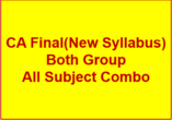 CA FINAL(New Syllabus) Full COMBO - P1+P2+P3+P4+P5+..