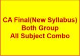 CA FINAL(New Syllabus) Full COMBO - P1+P2+P3+P4+P5+..