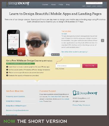 Short Landing Page