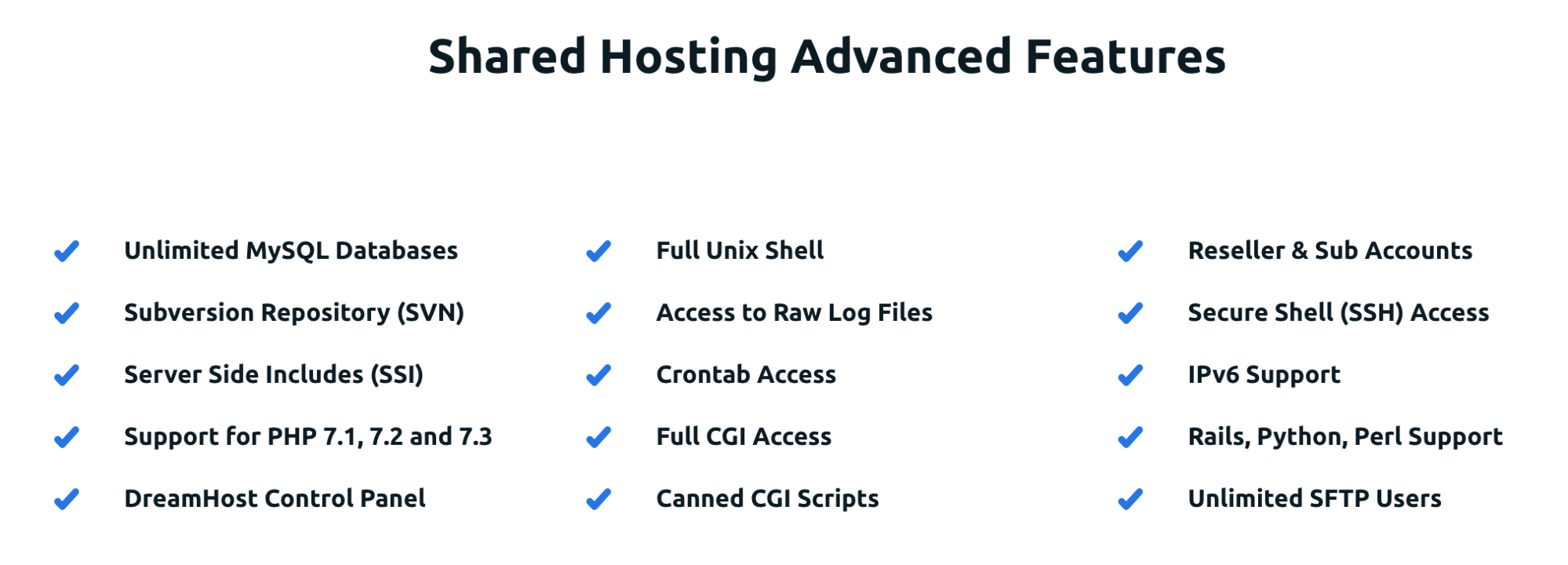 DreamHost Shared Hosting