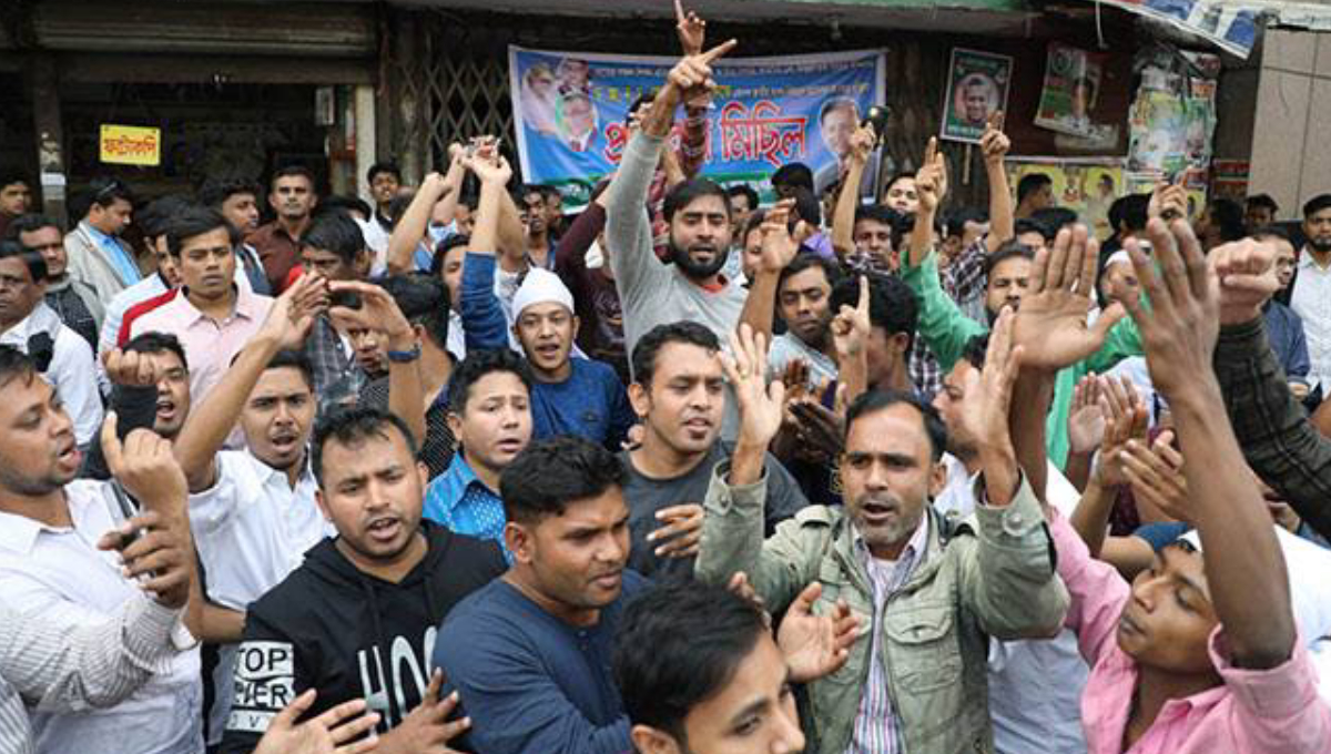 Milon's supporters keep Khaleda's office locked for an hour