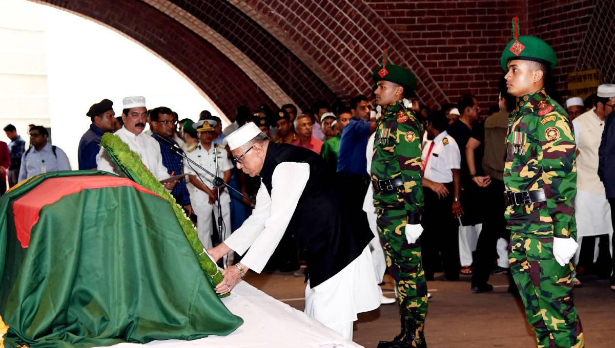 President attends Ershad's 2nd namaz-e-janaza