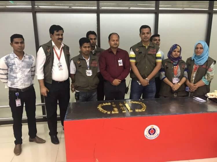 48 gold bars seized at Dhaka airport