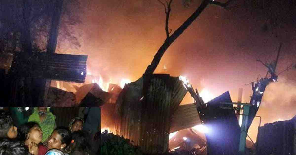 3 of a family burned dead in Chattagram slum fire