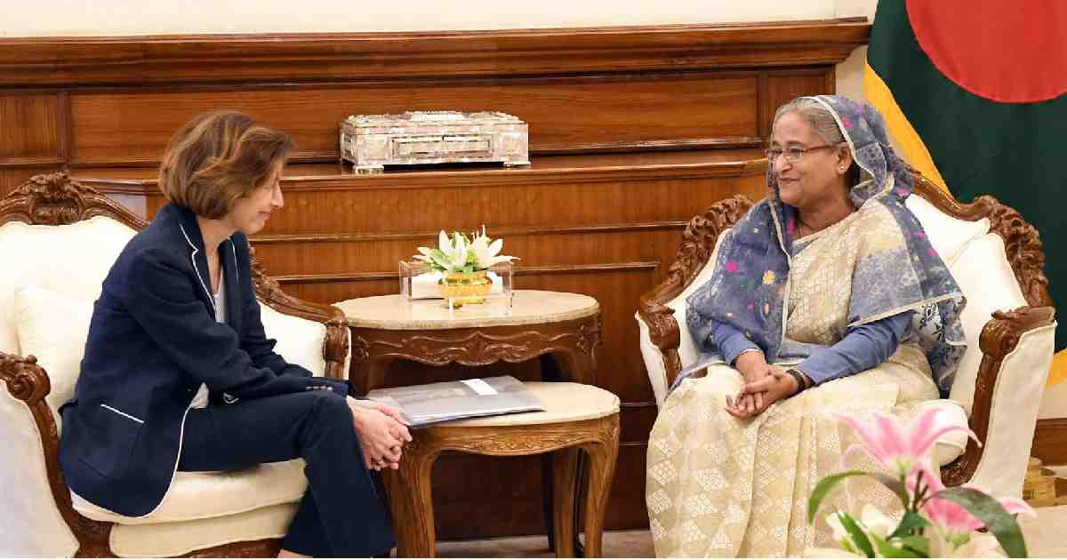 방글라데시에서 돌아온로 힝야 국민, 프랑스 플로렌스 팔리 프랑스 총리,로 힝야 문제, 미얀마 셰이크 하시나 총리