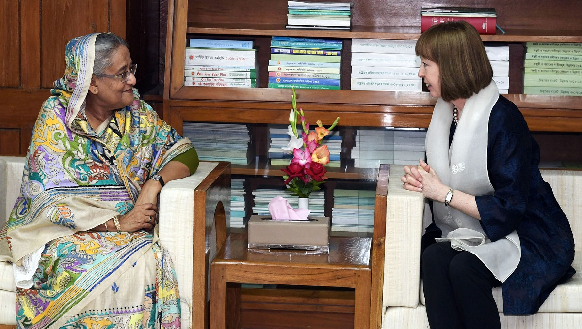 PM seeks UK's support for rail lines from Padma Bridge to Payra