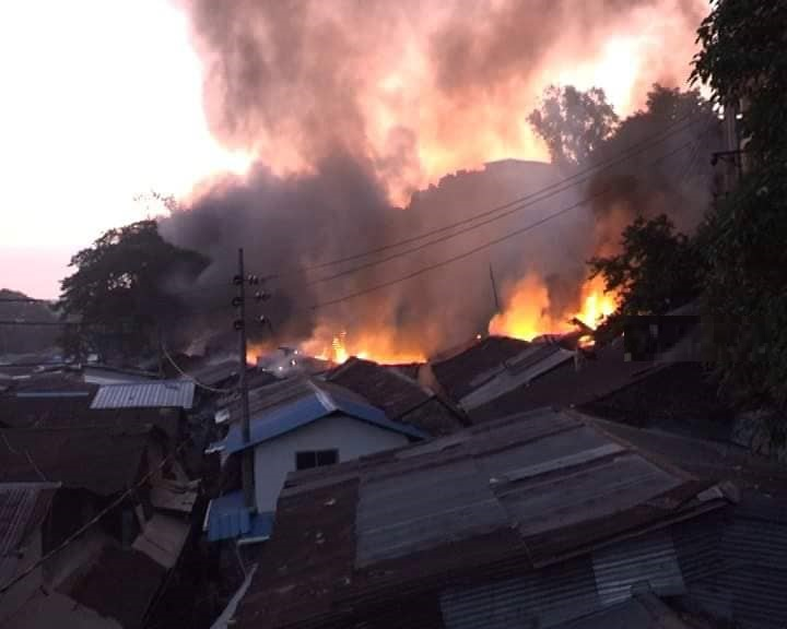 Over 100 shops gutted in Chattogram market fire