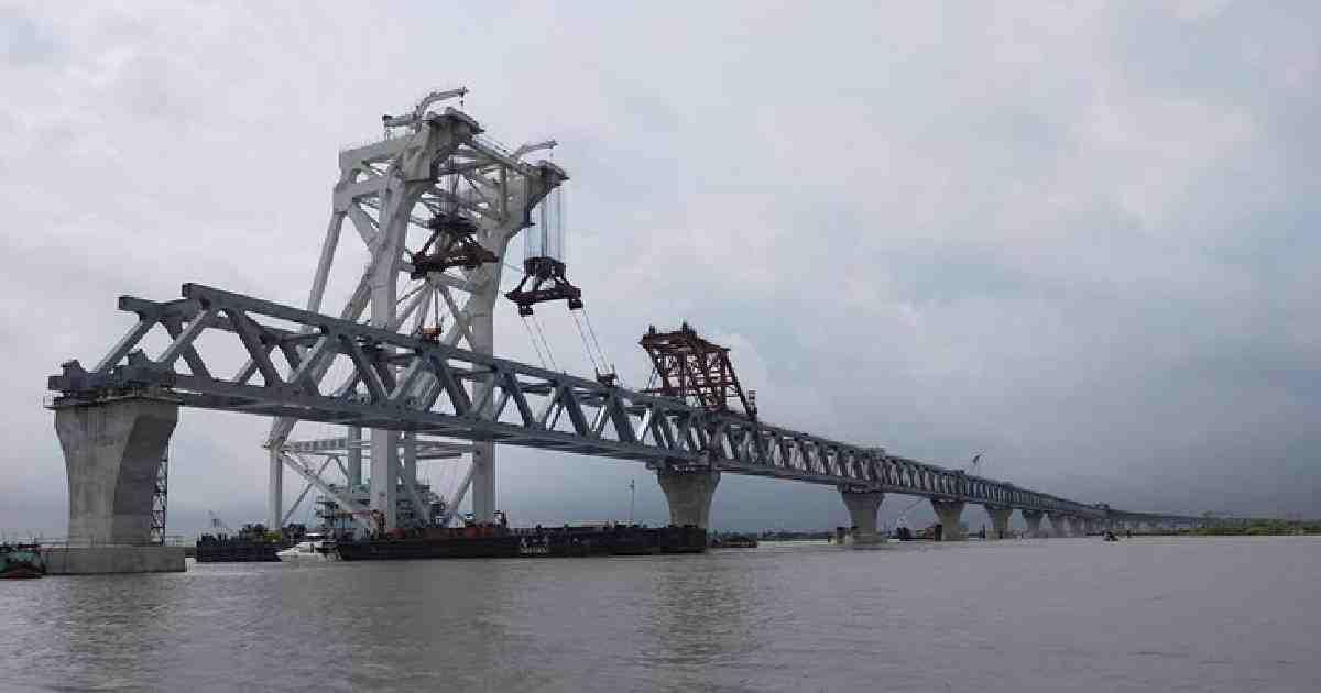 4.5 km Padma Bridge now visible