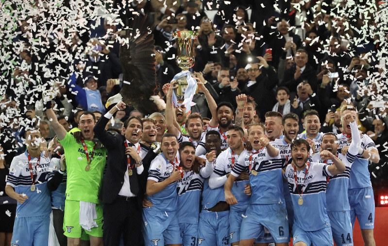 Lazio beats Atalanta 2-0 to win Italian Cup