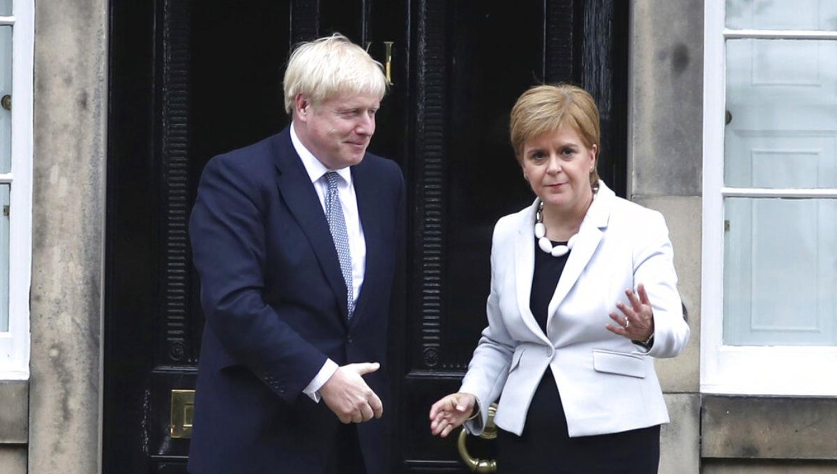 Boris Johnson tries to reassure on Brexit as pound slumps