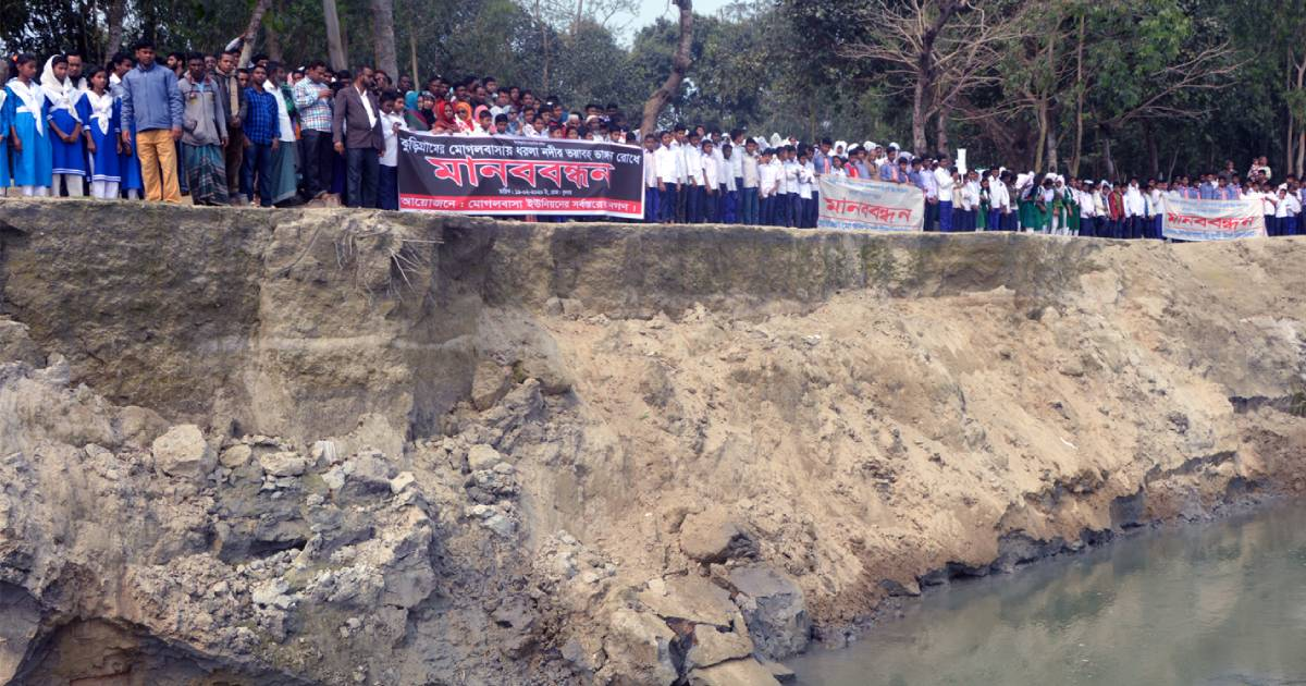 Save us from Dharla River erosion: Kurigram locals